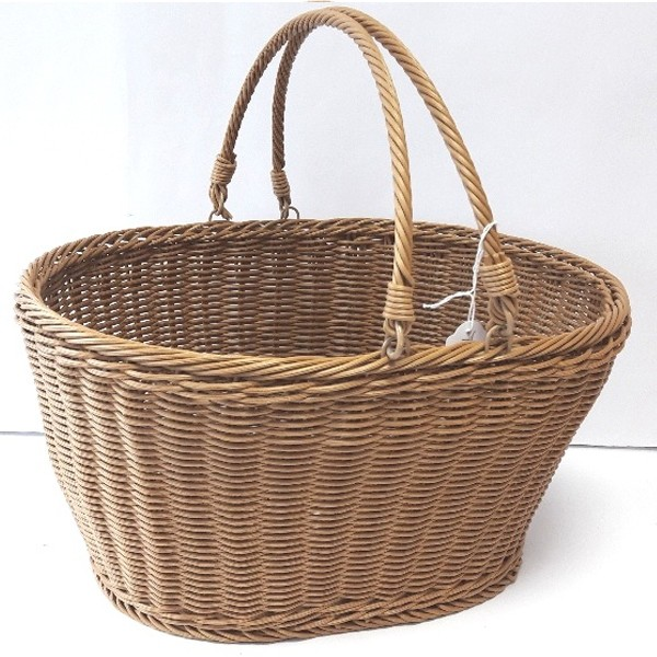 Plastic Coated Wire Woven Picnic Basket 03      x 4 pieces