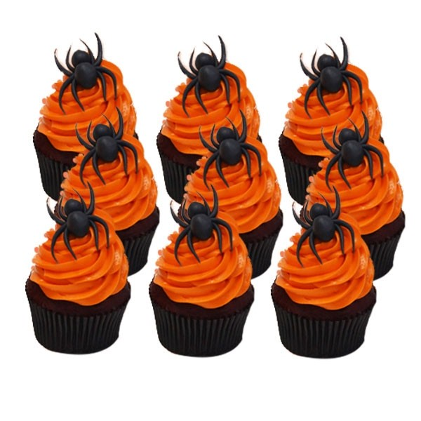 Halloween Spider Cup Cakes (09 pieces)