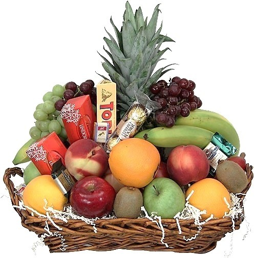 Tempting Fruit and Chocolate Basket