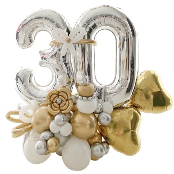 Any Age Silver Balloon Arrangement