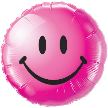Wild Berry Smilie Face Foil Balloon