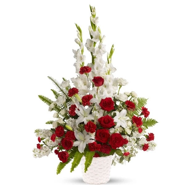 White and Red Elegance