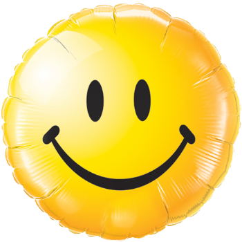 Happiness Smilie Face Foil Balloon
